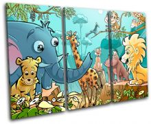 Jungle Animals For Kids Room - 13-2128(00B)-TR32-LO